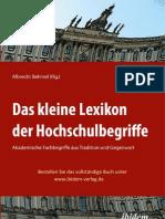 Albrecht Behmel, Kleines Lexikon der Hochschulbegriffe