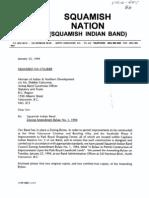 Squamish Nation Bylaws Zoning amendment January 25, 1994