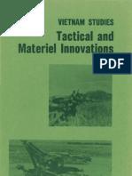 Vietnam Studies Tactical and Materiel Innovations