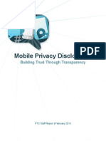 FTC Mobile Privacy Report