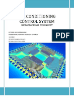 Air conditioning control system using PIC and stepper motors