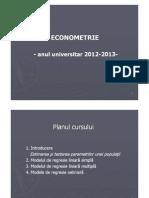 Curs11 12 Econometrie Regr Neliniara