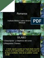 Clase de Romanos