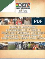 SIFDE, Informe Tipnis (Versión Completa) 2012