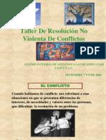 Taller de Resolucion No Violenta de Conflictos