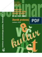 Večkulturnost v slovenskem jeziku, literaturi in kulturi