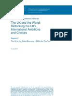 The UK and the World - Rethink the UK's International Ambition