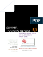 SUMMER TRAINING REPORT IN CENTRAL ELECTRONICS LTD