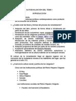 AUTOEVALUACIÒNES DE  HISTORIA UNIVERSAL DEL DERECHO