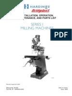 Bridgeport Series I milling machne repair manual