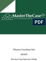 Wharton Casebook 2005 for Case Interview Practice | MasterTheCase