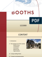 Booths - Strategic Marketing Management