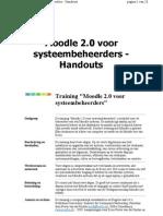 Handouts Moodle 2.* voor systeembeheerders