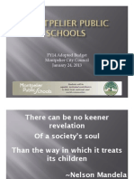 Montpelier School District Budget Fiscal Year 2014