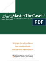 McCombs Casebook 2008 for Case Interview Practice | MasterTheCase