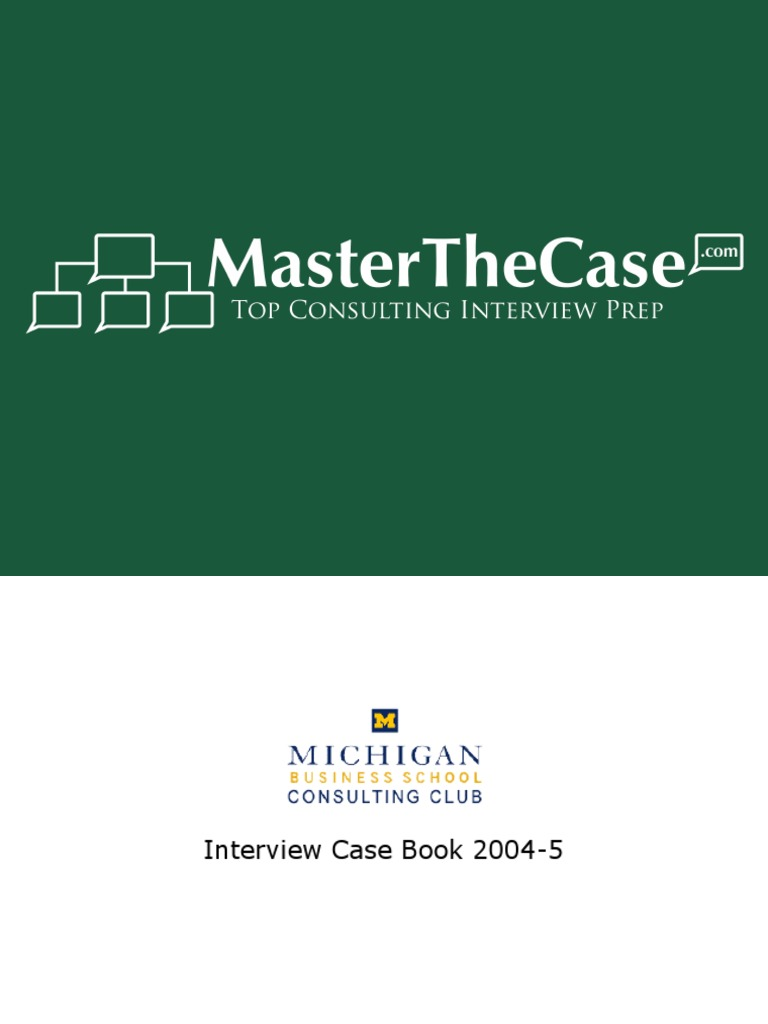 ross casebook 2005 for case interview practice masterthecase s