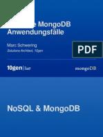 Typische MongoDB Anwendungsfälle