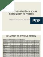 PRESTAÇÃO DE CONTAS ANO 2012