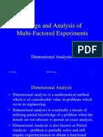 DOE Course Part 13 - Dimensional Analysis