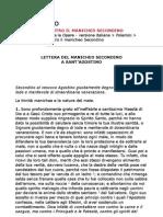 Sant'Agostino - Contro il manicheo Secondino (ITA)