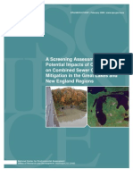 Combined Sewer Overflows EPA study 2008