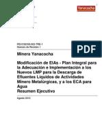 Resumen Ejecutivo Rev 1 Plan Adecuacion Ambiental Agosto 2012