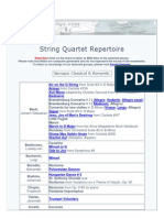 String Quartet Repertoire