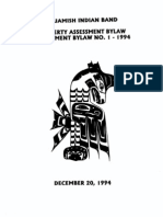 Squamish Nation Bylaws Property Assessment Amendment bylaw_1-Dec 20, 1994