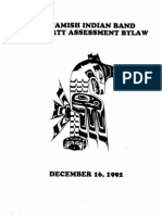 Squamish Nation Property Assessment Bylaw-Dec 31, 1992