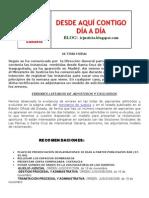 Hoja Informativa Admitidos y Excluidos Oposciones 2008