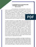 PRINCIPIOS FUNDAMENTALES DE MATERIALISMO HISTÓRICO Y DIALECTICO