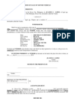 Deed of Sale of Motor Vehicl (Lbz654)