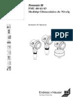 Manual Ultrasonico M FMU40 - Portuguese