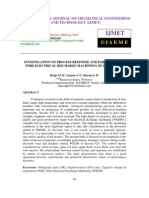 INVESTIGATION ON PROCESS RESPONSE AND PARAMETERS IN