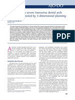 Orthodontics 3-dimensional planning
