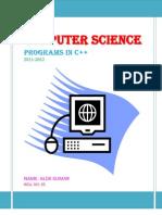 c++ programs class 11