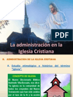 Administracion de La Iglesia Cristiana