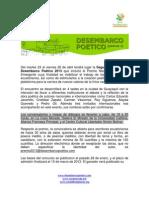 carta presentación DESEMBARCO 2013