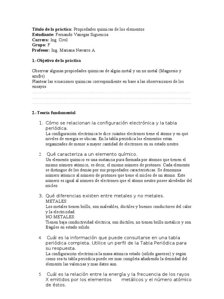 practica de quimica 4 espol - Tabla Periodica Metales Ductiles