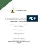 INOCENCIO MELENDEZ JULIO   LA CONVENIENCIA DE LOS CONTRATOS DE CONCESIÓN EN EL SISTEMA  DE TRANSPORTE MASIVO URBANO DE BOGOTA D.C- ESQUEMA JURÍDICO Y PRÁXIS CONTRACTUAL EN  TRANSMILENIO