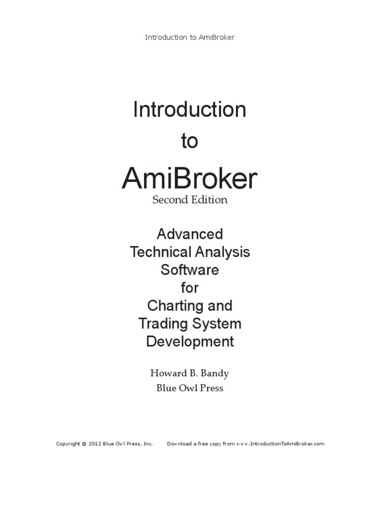 Introduction To AmiBroker Second Edition | File Format