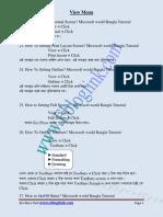 MicrosoftWordBnglaTutorialPart1