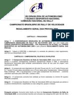 2009 Rally Velocidade Regulamento Geral