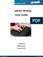 Academic Writing Style Guide