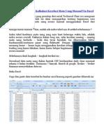 Technical Class 101 – Kalkulasi Korelasi Mata Uang Manual Via Excel