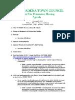 Altadena Land Use Committee revised agenda Feb. 5 2013