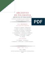 rivista archivio di filosofia