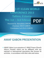 Gabon Presentation in Clean World Conference 2013