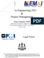 Systems Engineering and Project Management