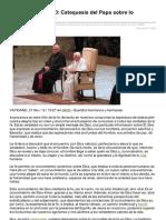 ACIprensa_Catequesis Del Papa Sobre Lo Razonable de Creer